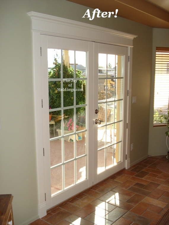 patio french double door trim