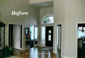 Foyer open floor plan molding upgrade