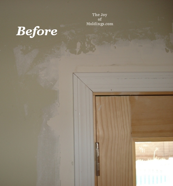 before and after door trim pictures