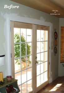 Before Amp After Moldings For Patio Double Doors The Joy