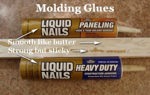 Glue for Interior Home Moldings