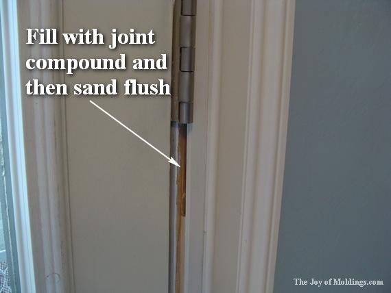 how to paint classical door trim moldings