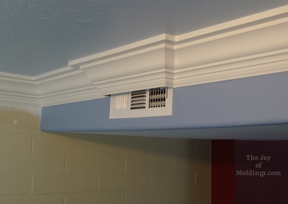 diy three piece kitchen crown molding installation