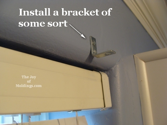 window valance box mounting hardware