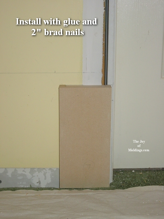 diy mdf plinth block
