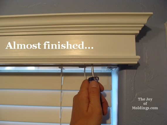 how to mount a diy window valance box