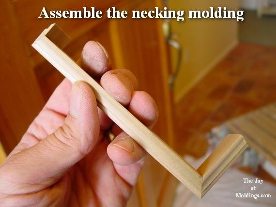 necking molding for plinth block