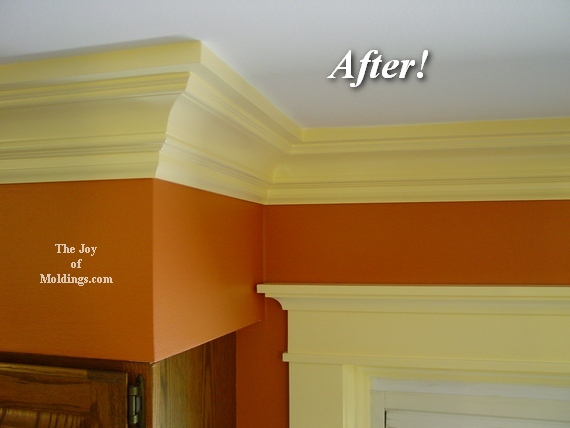 mdf Arts & Crafts Victorian style painted moldings