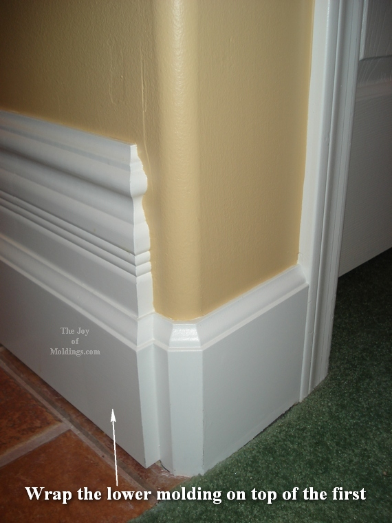 before and after baseboard picture gallery