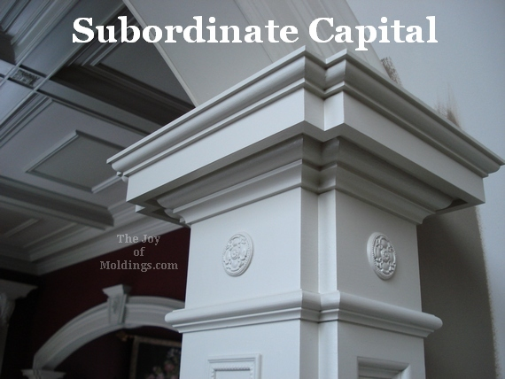 moldings of different styles and sizes in same room
