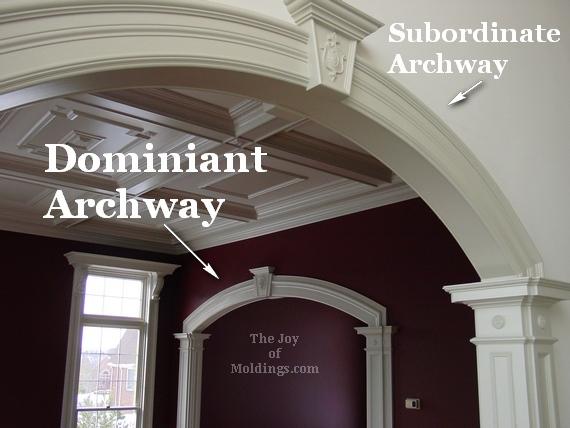 archways interior moldings living room