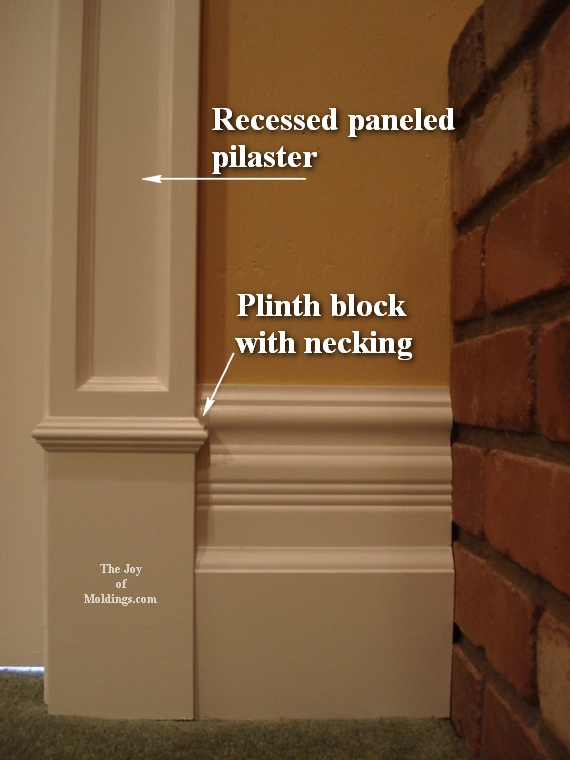victorian style plinth blocks for interior door