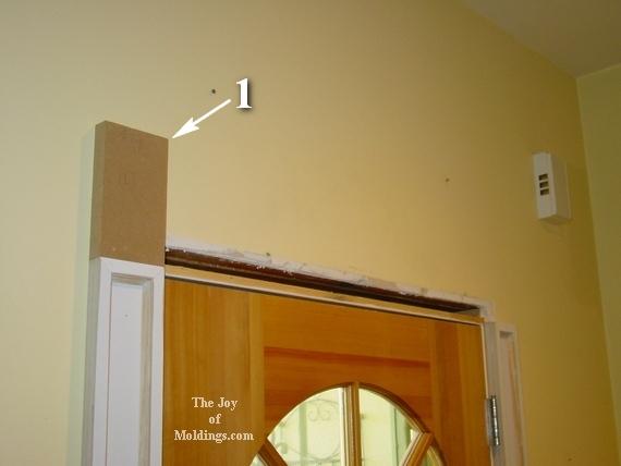 how to install door trim moldings