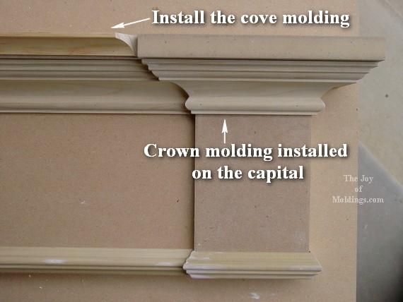 cove molding for diy door surround