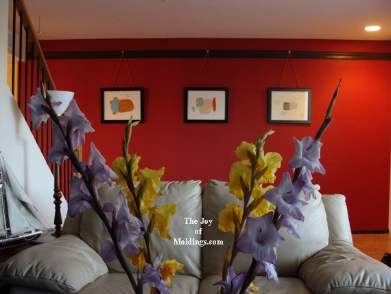 decorate with picture rail molding