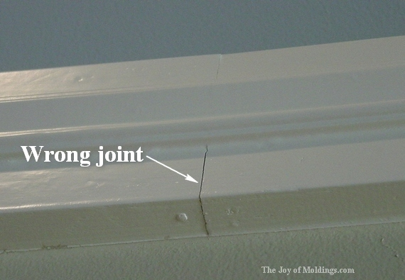 picture rail molding scarf joint that is no good.