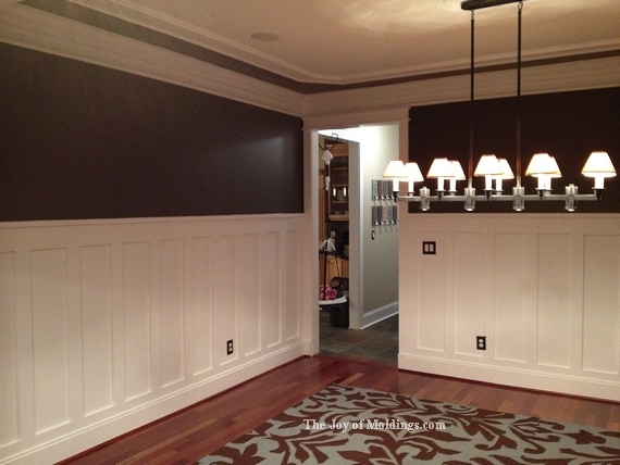 Trae S Tall Craftsman Style Wainscoting The Joy Of Moldings