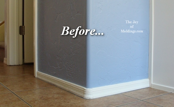 how to install kitchen baseboard moldings