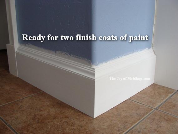 large kitchen baseboard trim molding