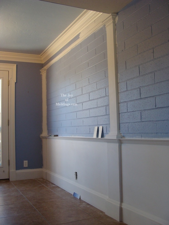 DIY Wainscoting on Brick Wall Update. Take a Look! - The ...