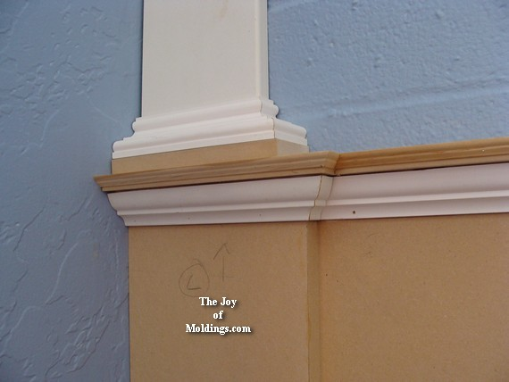 WAINSCOTING-109 Part 4: Wraping the Bed Molding - The Joy ...