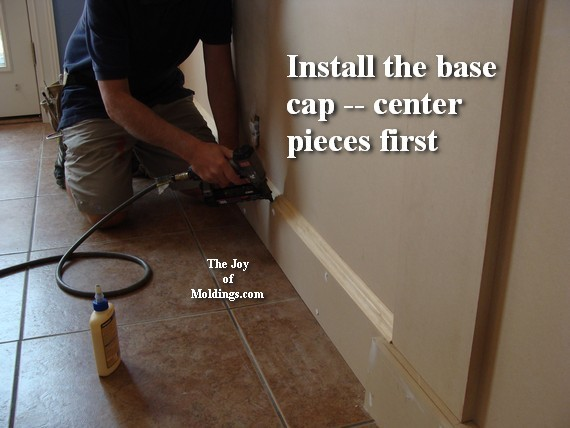 how to install baseboard moldigns