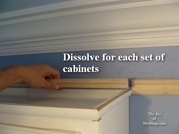 picture rail molding above cabinets