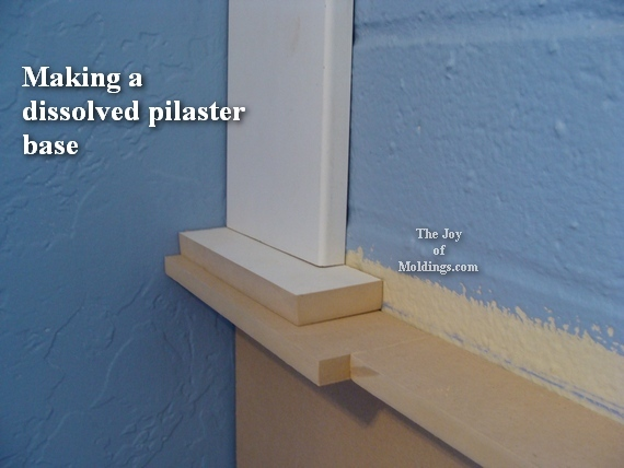 how to install moldings on brick wall
