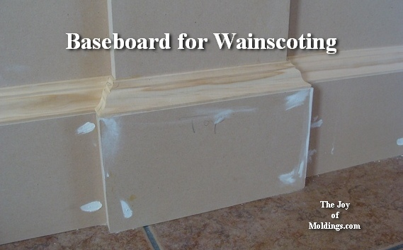 baseboard on wainscoting