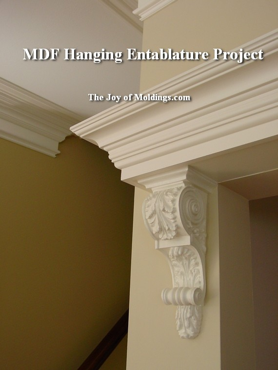 how to install moldings with corbels