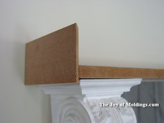 how to install moldings and corbel