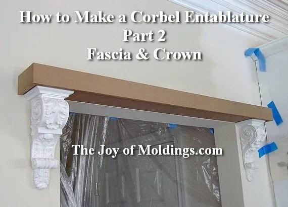 corbel entablature molding diy
