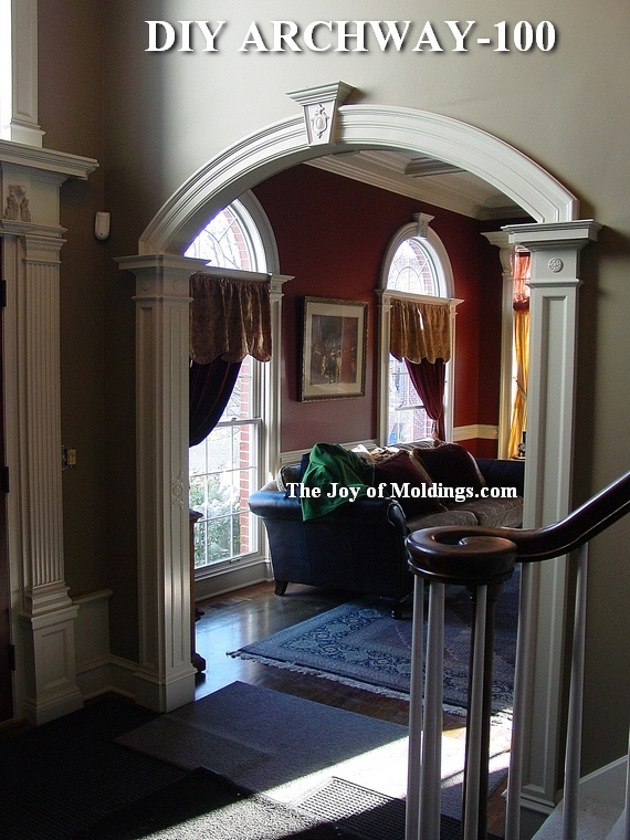 archway in foyer living room