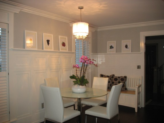 wainscoting tall craftsman style