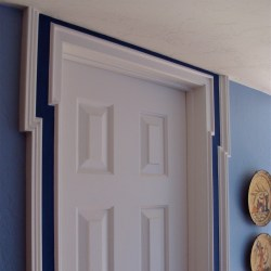 how to install door trim molding