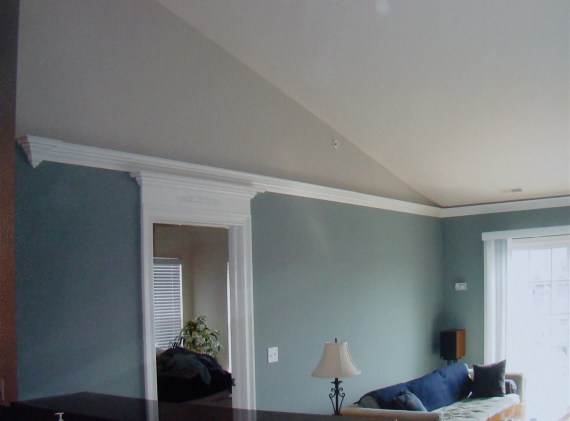 crown molding on vaulted ceiling