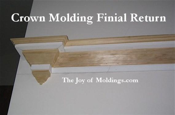 crown molding finial return
