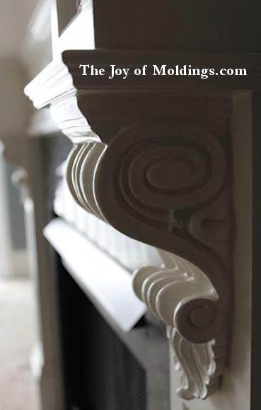 resin fireplace corbel