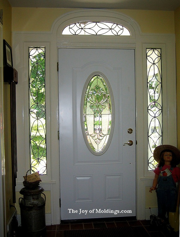 craftsman style door surround