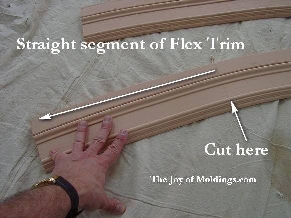 Flexible moldings