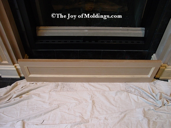 diy fireplace frieze