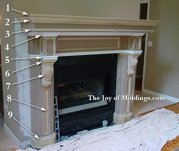 cusotom fireplace mantel
