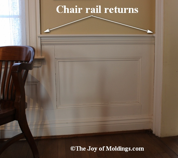 Return Your Chair Rail On Top Of Door Or Window Trim