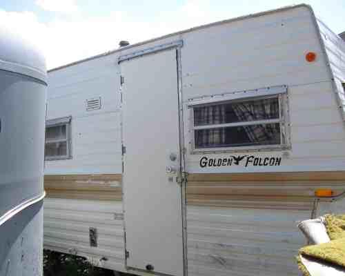 1971 golden Falcon vintage camper remodel