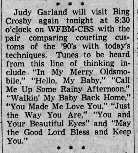 Judy Garland on the radio