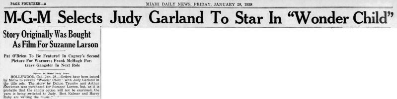 """Judy Garland in """"Wonder Child"""""""