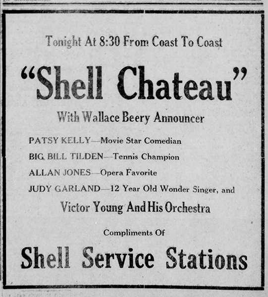 Judy Garland on the Shell Chateau Hour