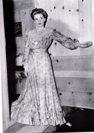 """Judy Garland in costume for the deleted """"The Convict's Return"""" sketch in """"Babes on Broadway"""""""