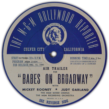 """""""Babes on Broadway"""" air trailer side 1"""
