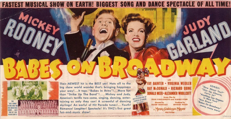 """""""Babes on Broadway"""" poster"""